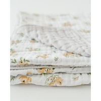 COUVERTURE COTON - YELLOW ROSE