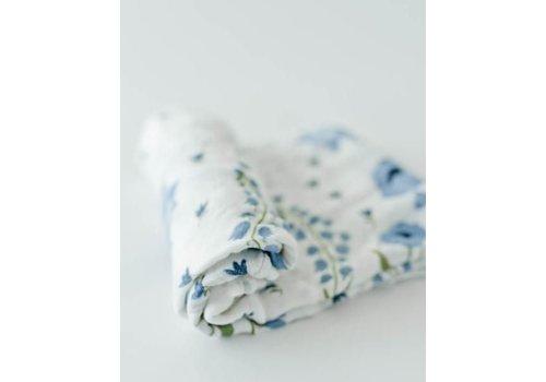 Little Unicorn MOUSSELINE BAMBOU - BLUE WINDFLOWER
