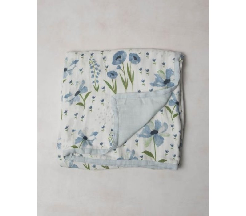 COUVERTURE BAMBOU - BLUE WINDFLOWER