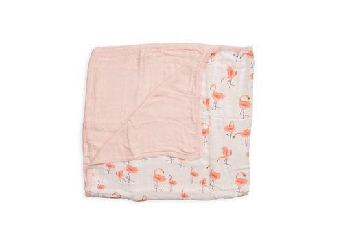 Little Unicorn COUVERTURE BAMBOU - PINK LADIES