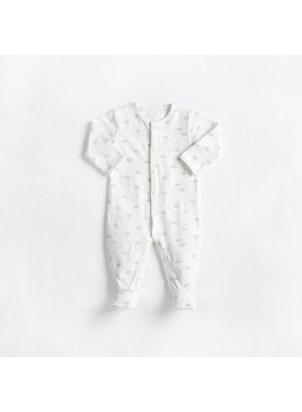 Miles Baby Brand PYJAMA NUAGES - CRÈME