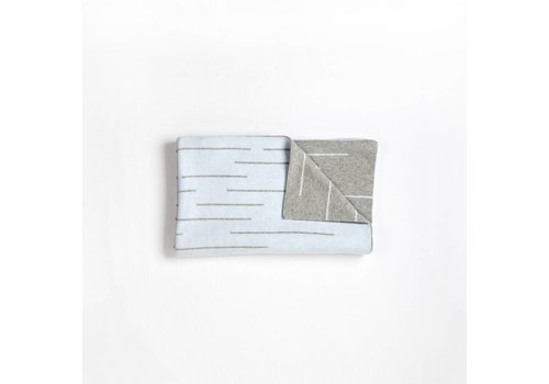 FIRSTS by Petit Lem COUVERTURE TRICOT - GRIS/BLEU PÂLE