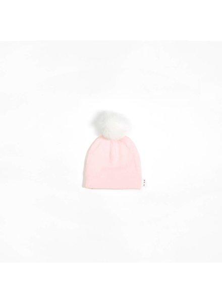 Miles Baby Brand TUQUE À POMPON - ROSE PÂLE