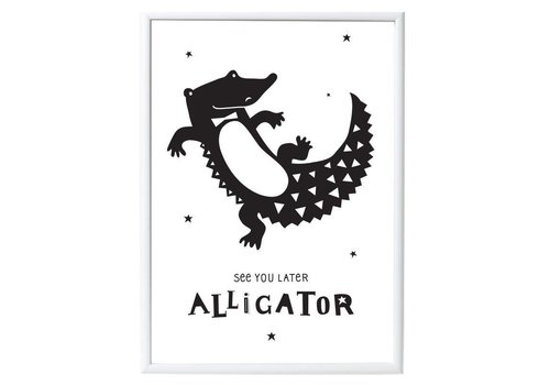 A Little Lovely Company AFFICHE - ALLIGATOR