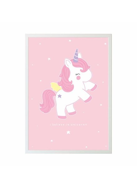 A Little Lovely Company AFFICHE - BÉBÉ LICORNE