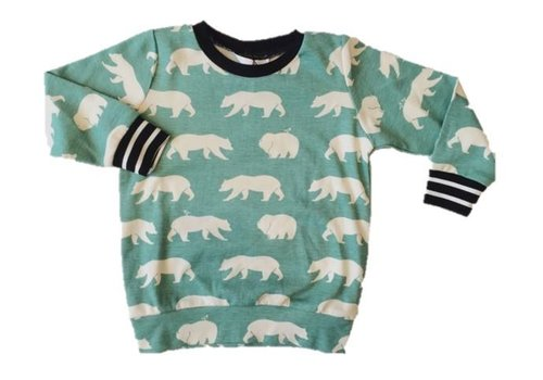 Petit monstre couture CHANDAIL OURS - VERT