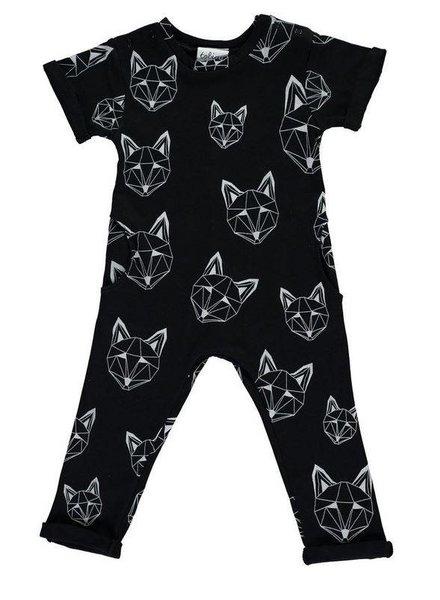 Tobias & the Bear ROMPER JUST CALL ME FOX - NOIR