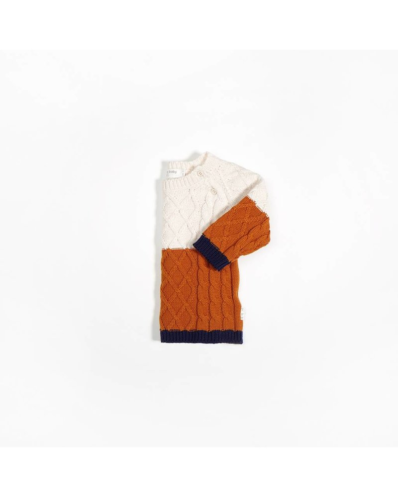 Miles Baby Brand CHANDAIL TRICOT - BEIGE/CITROUILLE
