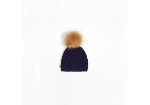 Miles Baby Brand TUQUE TRICOT POMPON - MARINE