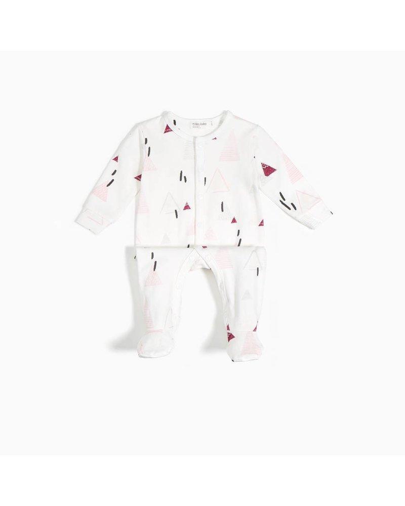 Miles Baby Brand PYJAMA MONTAGNES - BOURGOGNE