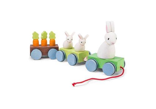 Le Toy Van LE TRAIN DE LA FAMILLE LAPIN