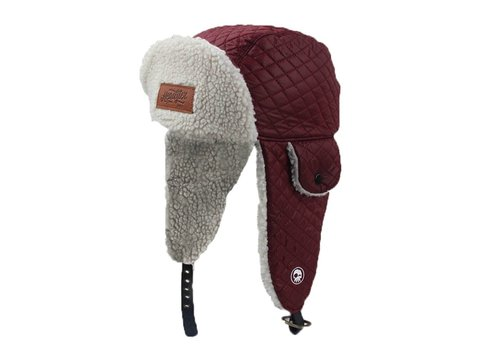 Headster Kids TUQUE ORIGINAL TRAPPERS - BOURGOGNE