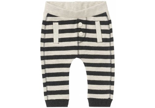 Noppies PANTALON JERSEY ILLINOIS - LIGNÉ GRIS/CHARCOAL