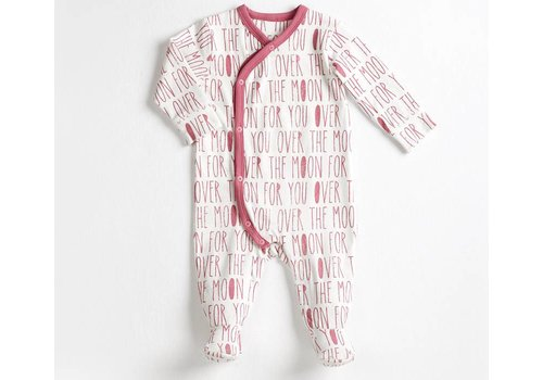 FIRSTS by Petit Lem PYJAMA YOU OVER THE MOON - ROUGE