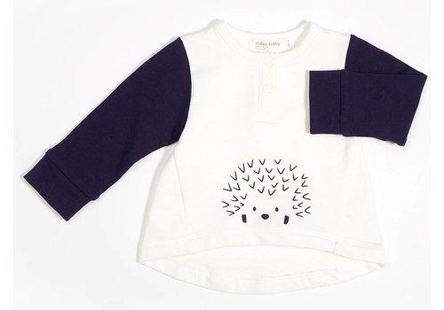 Miles Baby Brand TUNIQUE HÉRISSON - MARINE/CRÈME
