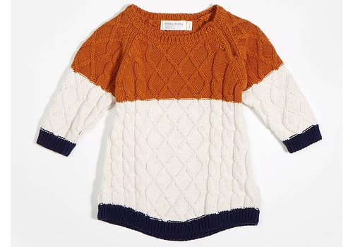 Miles Baby Brand ROBE TRICOT - CITROUILLE