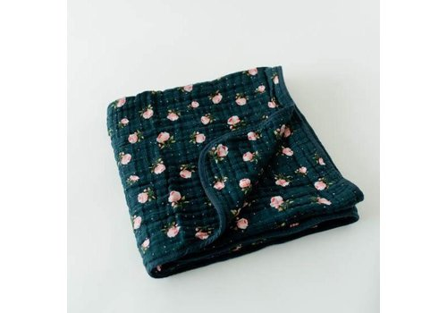 Little Unicorn COUVERTURE COTON - MIDNIGHT ROSE