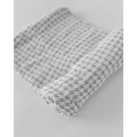 MOUSSELINE BAMBOU - HOUNDSTOOTH GREY