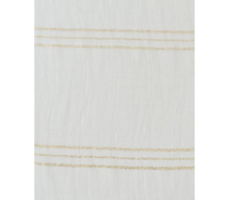 MOUSSELINE BAMBOU - GOLD STRIPE