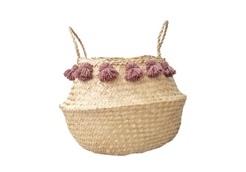 Dutch Warehouse PANIER MEDIUM BOHO - MAUVE ANTIQUE