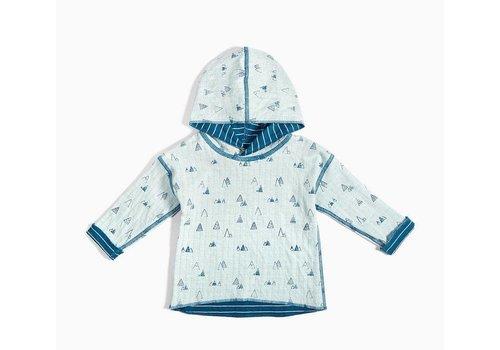 Miles Baby Brand CHANDAIL À CAPUCHON RÉVERSIBLE - BLEU