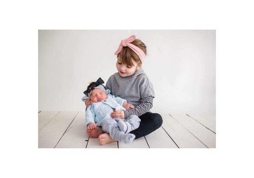 Zak et Zoé BANDEAU AJUSTABLE - ROSE PÂLE