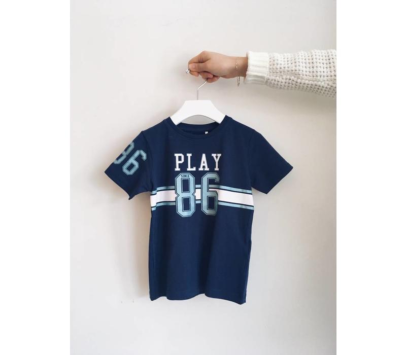 T-SHIRT PLAY BLUES - BLEU