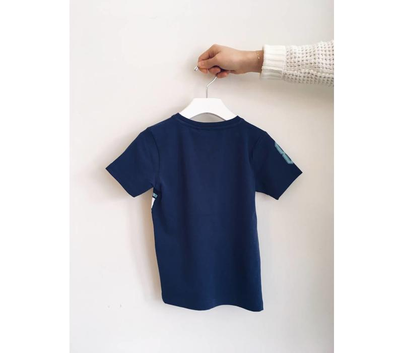 T-SHIRT PLAY BLUES - BLEU