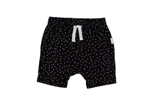 Miles Baby Brand SHORT CONFETTI - NOIR/BLANC