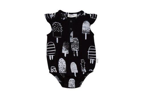 Miles Baby Brand COMBISHORT POPSICLES - NOIR/BLANC