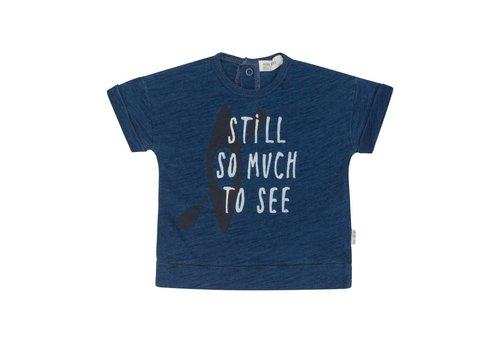 Miles Baby Brand T-SHIRT SO MUCH TO SEE - INDIGO