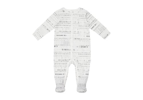 FIRSTS by Petit Lem PYJAMA OVALES - CHARCOAL