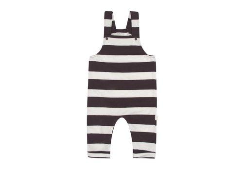 Miles Baby Brand SALOPETTE RAYÉ - CHARCOAL/CRÈME