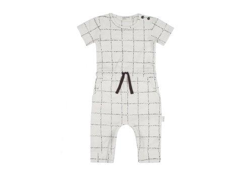 Miles Baby Brand ROMPER WINDOWPANE - CRÈME