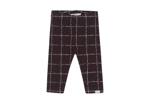 Miles Baby Brand LEGGING WINDOWPANE - CHARCOAL