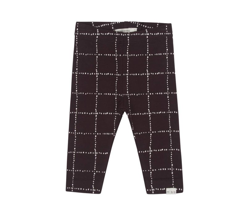 LEGGING WINDOWPANE - CHARCOAL