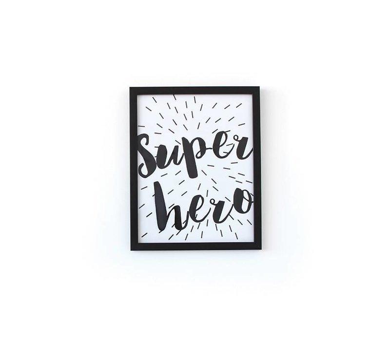 CADRE SUPER HÉROS - NOIR (EN LIGNE SEULEMENT!)
