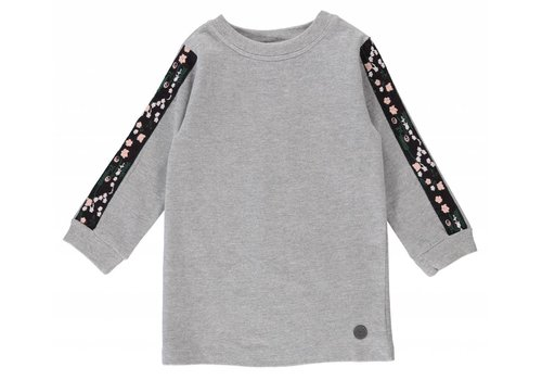 BIRDZ Children ROBE - GRIS/FLEURI