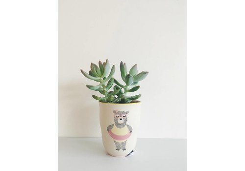 Bloomingville *EN BOUTIQUE SEULEMENT!* VASE OURSONNE + PLANTE