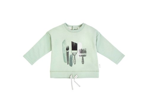 Miles Baby Brand CHANDAIL MANCHE LONGUE PINCEAUX - VERT
