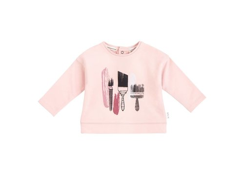 Miles Baby Brand CHANDAIL MANCHE LONGUE PINCEAUX - ROSE