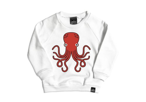 Whistle & Flute SWEATSHIRT OCTOPUS - BLANC