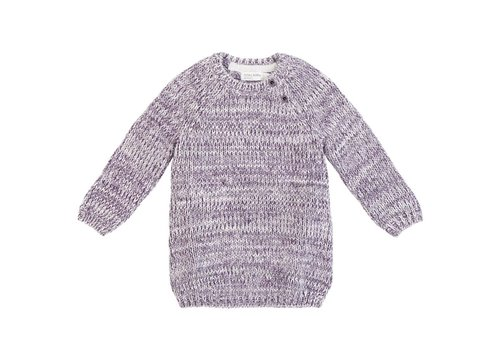 Miles Baby Brand ROBE TRICOT - CHINÉ GRIS/MAUVE