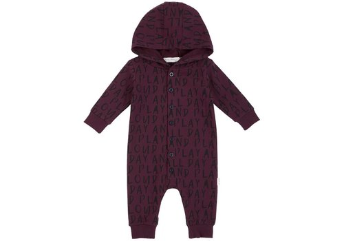 Miles Baby Brand ROMPER À CAPUCHON PLAY - BOURGOGNE
