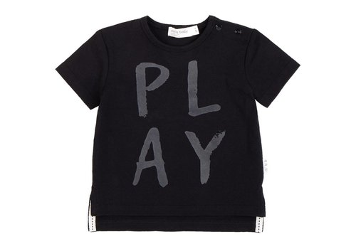Miles Baby Brand T-SHIRT PLAY LOUD - NOIR