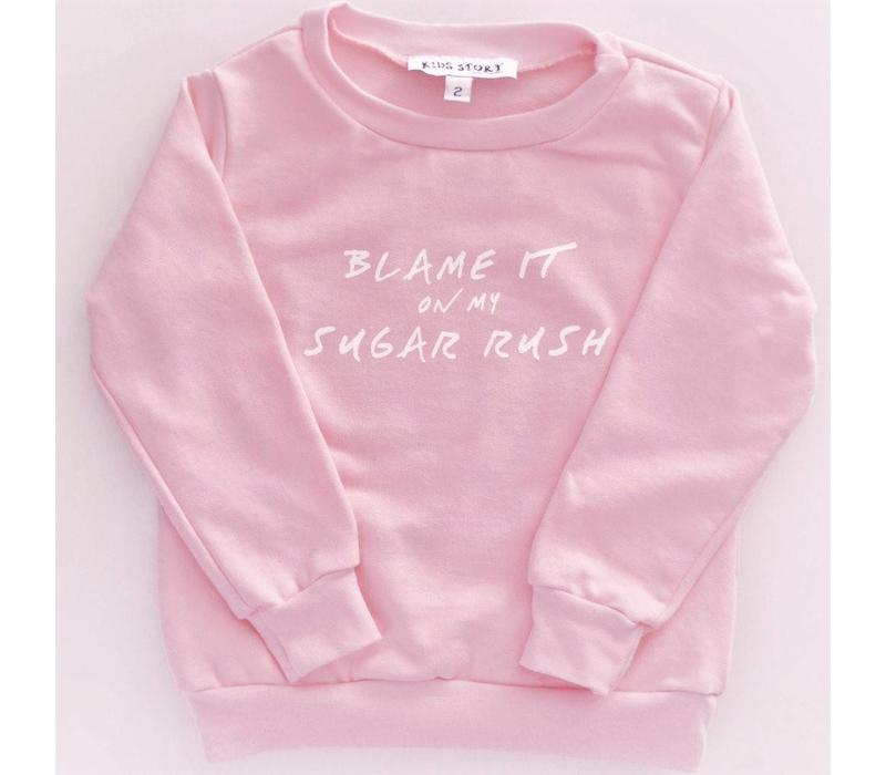 CREWNECK SUGAR RUSH - ROSE