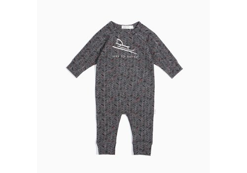 Miles Baby Brand ROMPER HERE TO SLEIGH - GRIS