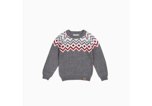 Miles Baby Brand CHANDAIL TRICOT HOLIDAY - GRIS