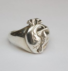 MC Heart Ring Silver