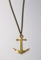 Model Citizen MC Anchor Necklace Brass